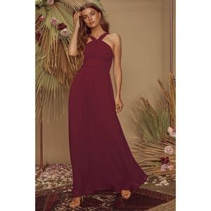 | Lulus | Air of Romance Maxi Bridesmaid Dress